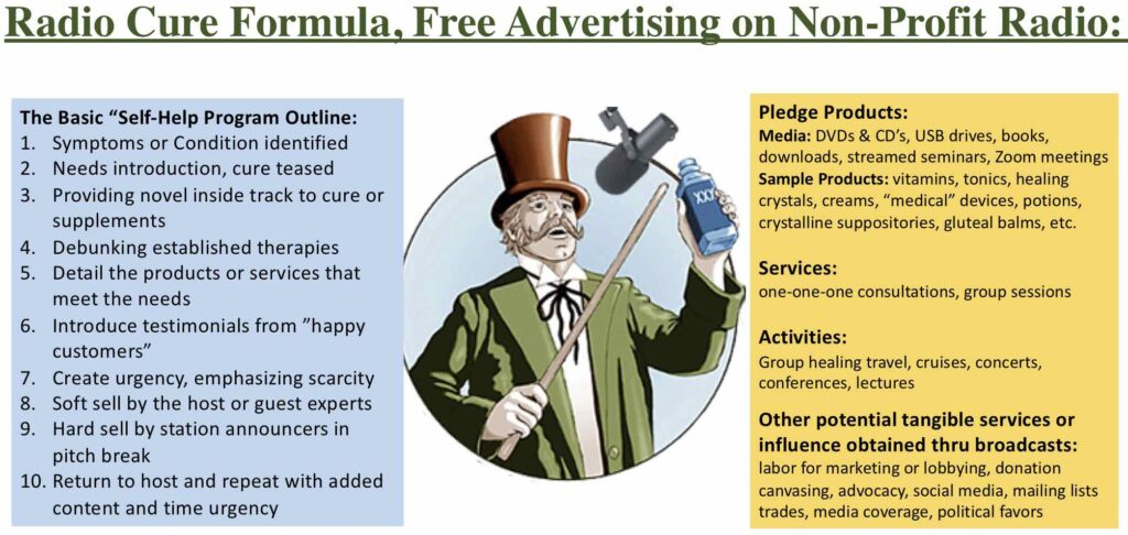 Radio Cure Formula, Free Advertising on Non-Profit Radio